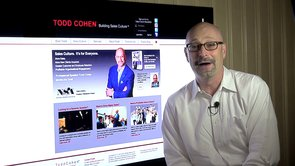 Todd Cohen in promotional video for Association of Equipment Manufacturers.
