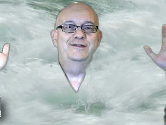 Image from Steve's ice bucket challenge video. We produced it in our studio using chroma key (green screen) technology.