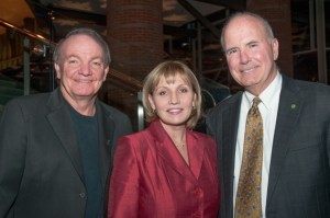 Musician Tim McLoone, left, with NJ Lt. Gov. Kim Guadagno and Investors Bank President Kevin Cummings.