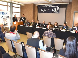 PRSA-NJ Meet the Media Panel at Rutgers University, Piscataway, NJ, April 5, 2018. (Photo by Robert Bugai)