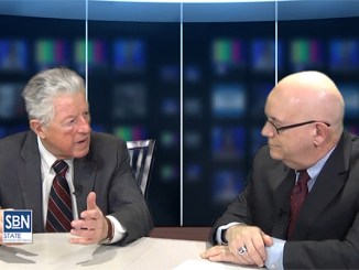 SBN's in-studio interview with former NJ Gov. Jim Florio won an award TV for news features.