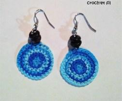 créoles bleus crochetfil