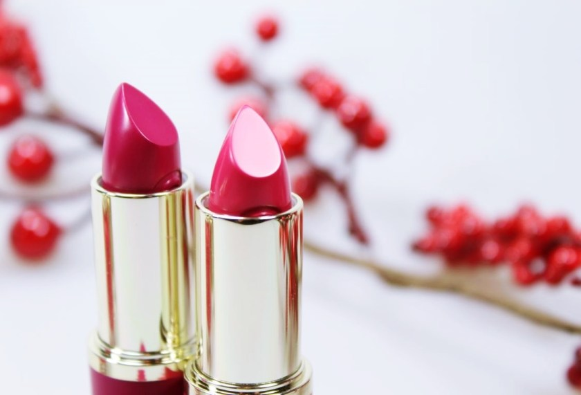 """essence merry berry Lippenstifte 02 """"pink&perfect"""" & 03 """"red rocks"""""""