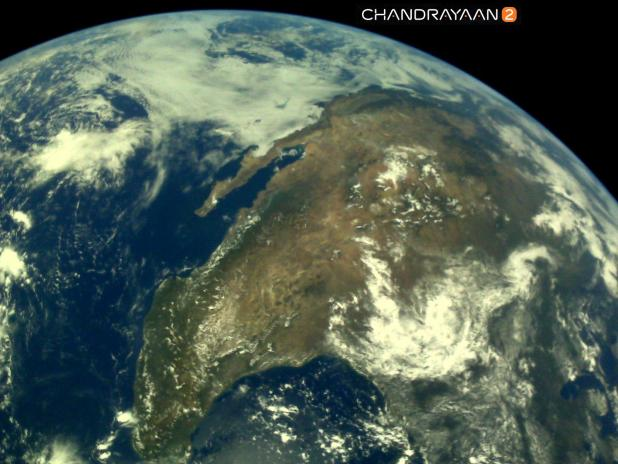 Chandrayan 2 earth pictures