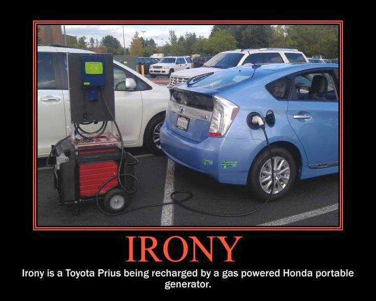 Toyota Prius irony