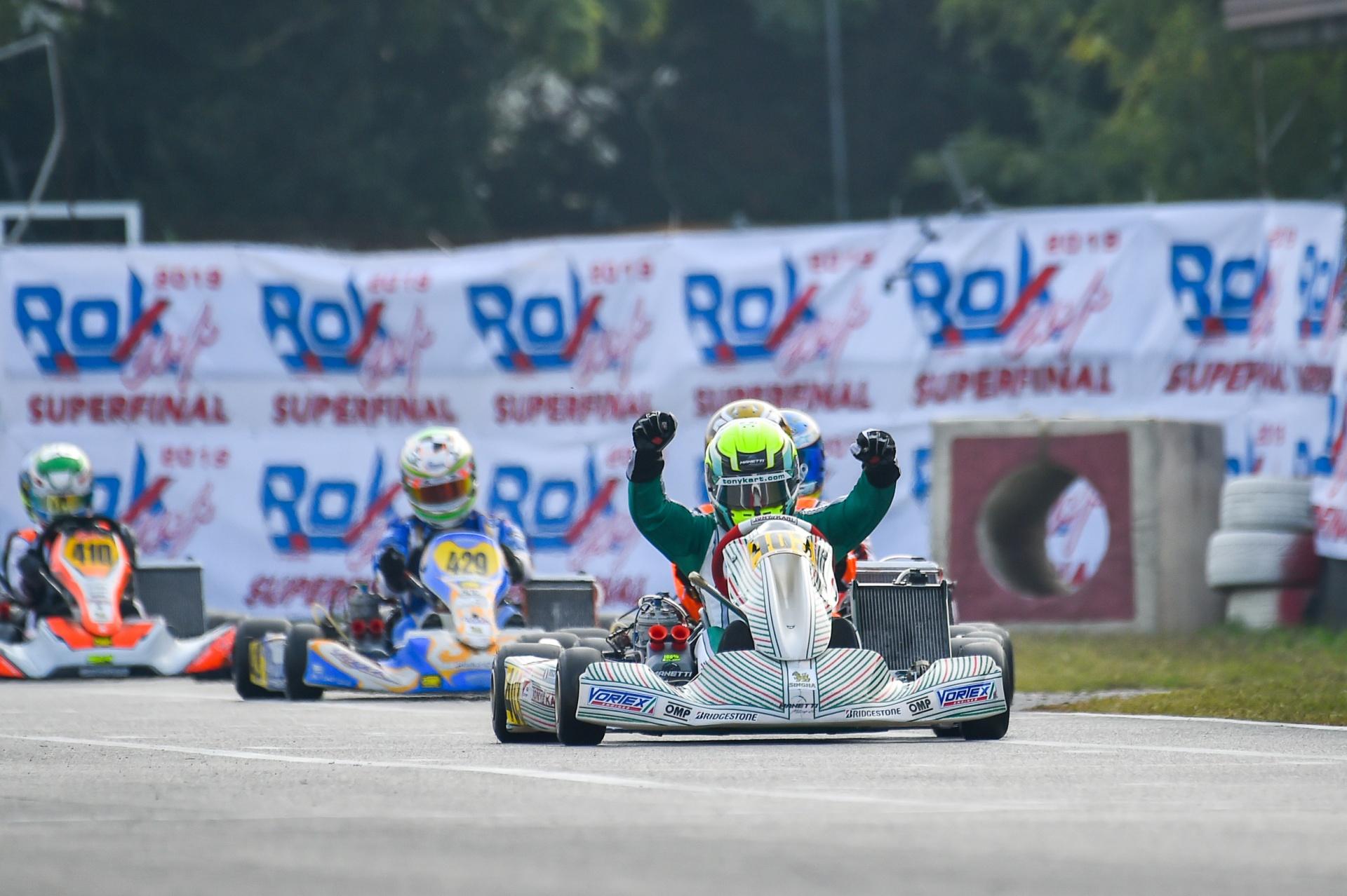 Luca Bosco World Champion 2019 ROK Cup Karting