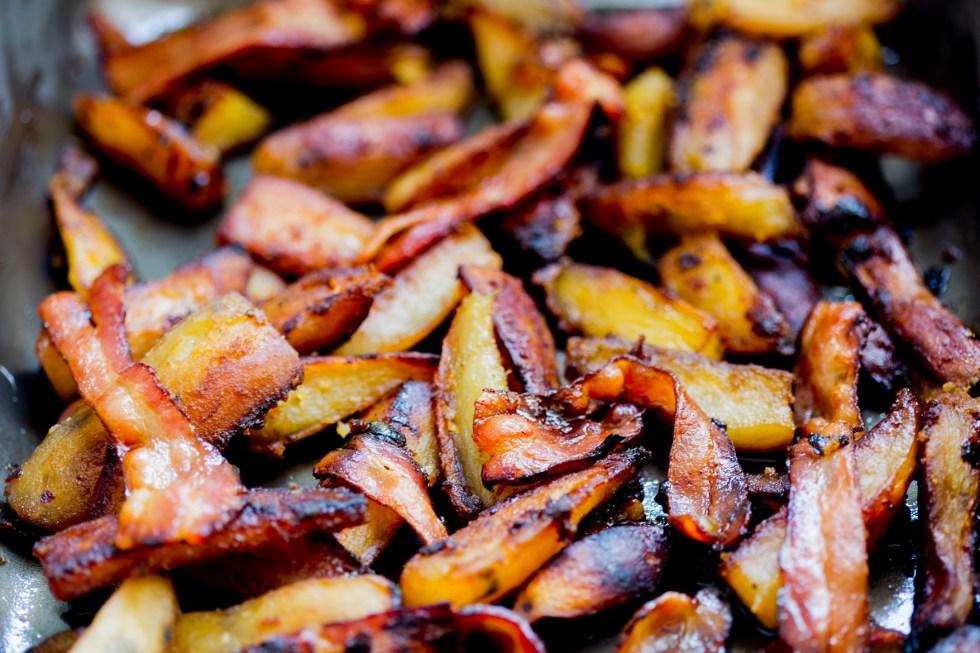 batata doce glaceada com bacon 2