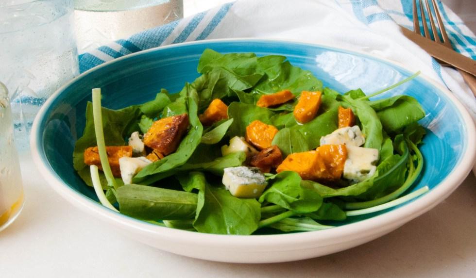 Salada de abóbora assada com gorgonzola2