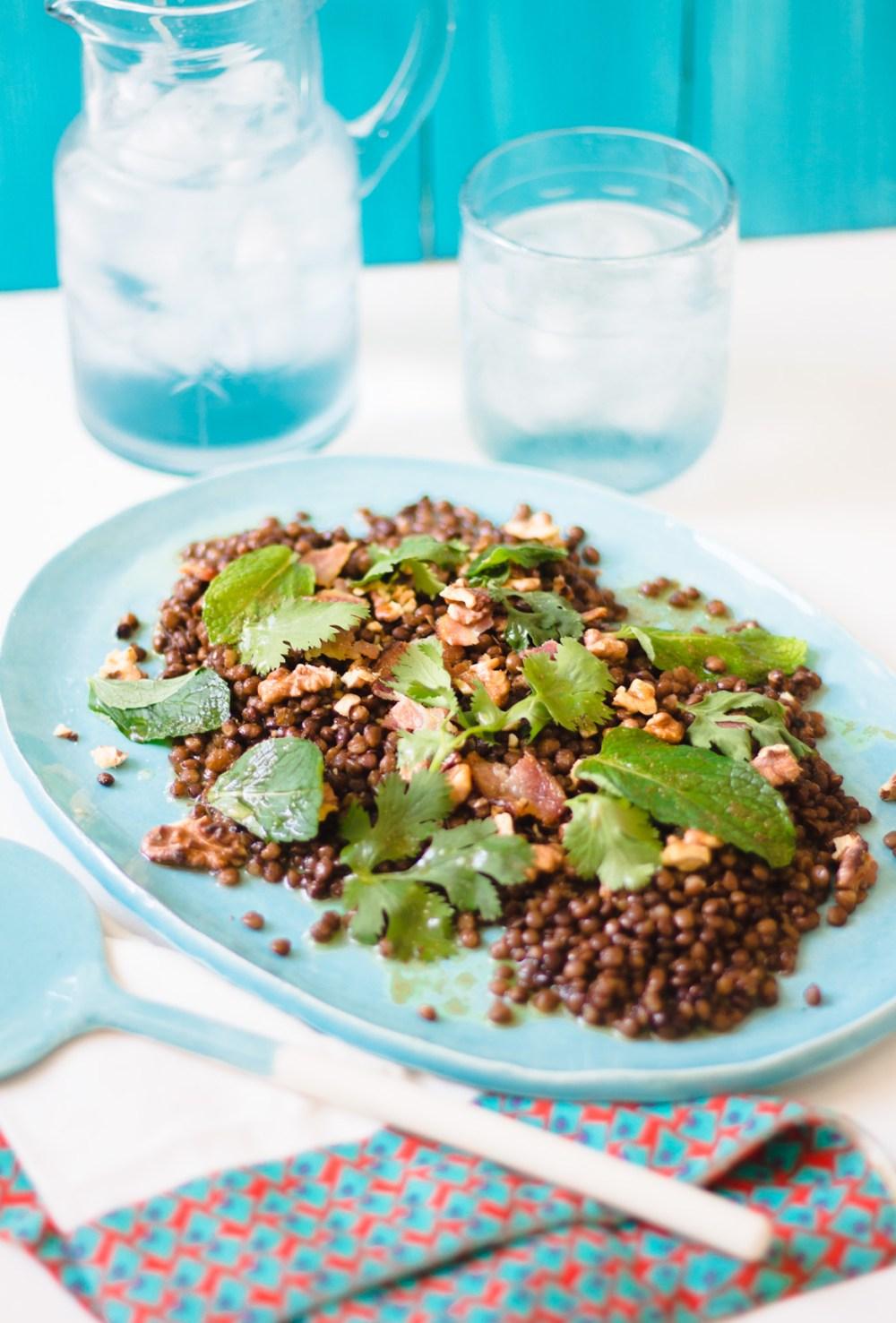 Um livro ao ano – Rita Lobo: 28 Salada de Lentilhas com Nozes e Bacon