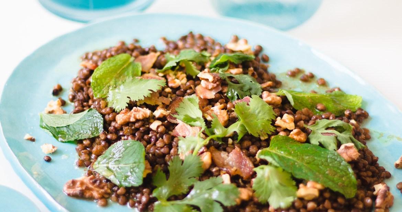 Salada de Lentilhas com Nozes e Bacon 2