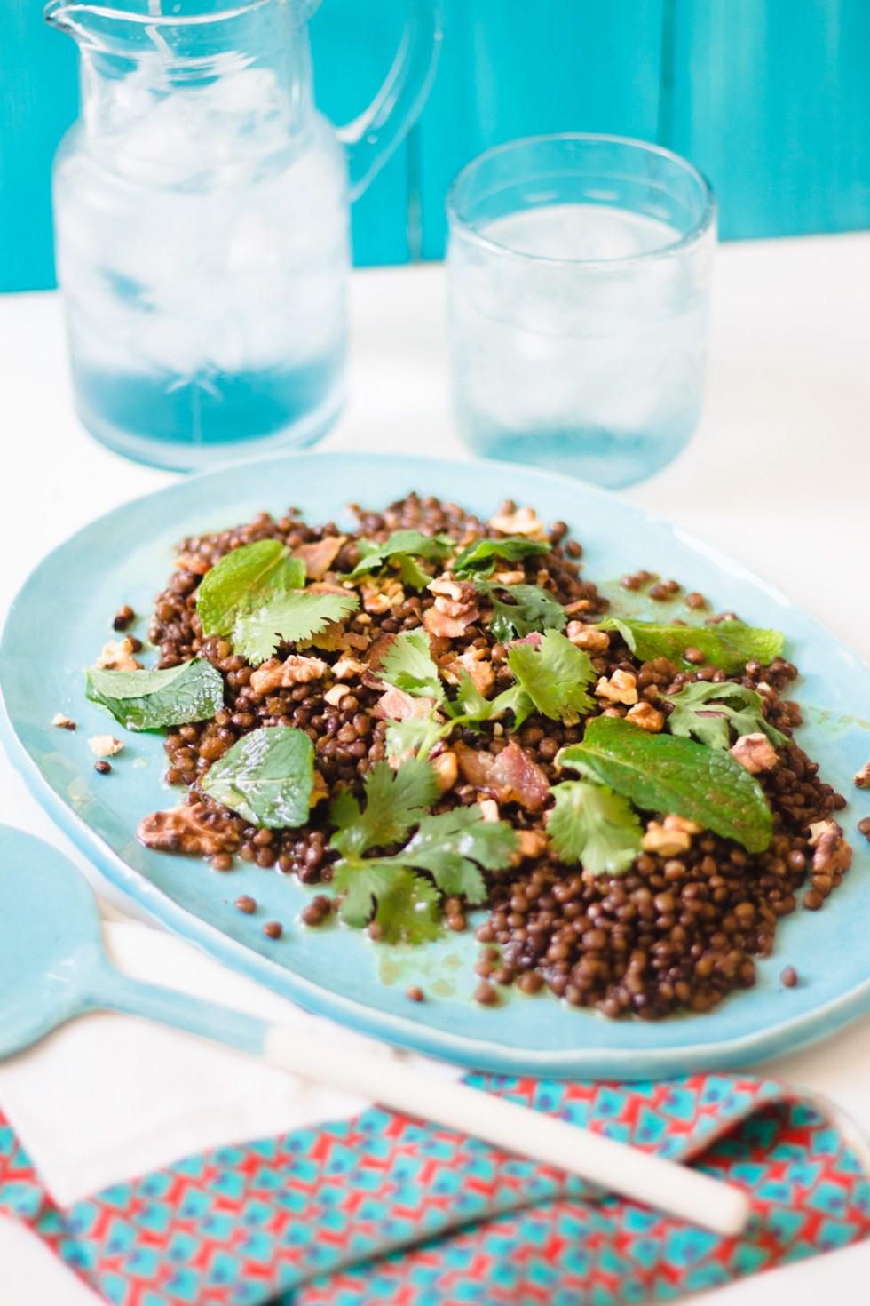 Salada de Lentilhas com Nozes e Bacon 3