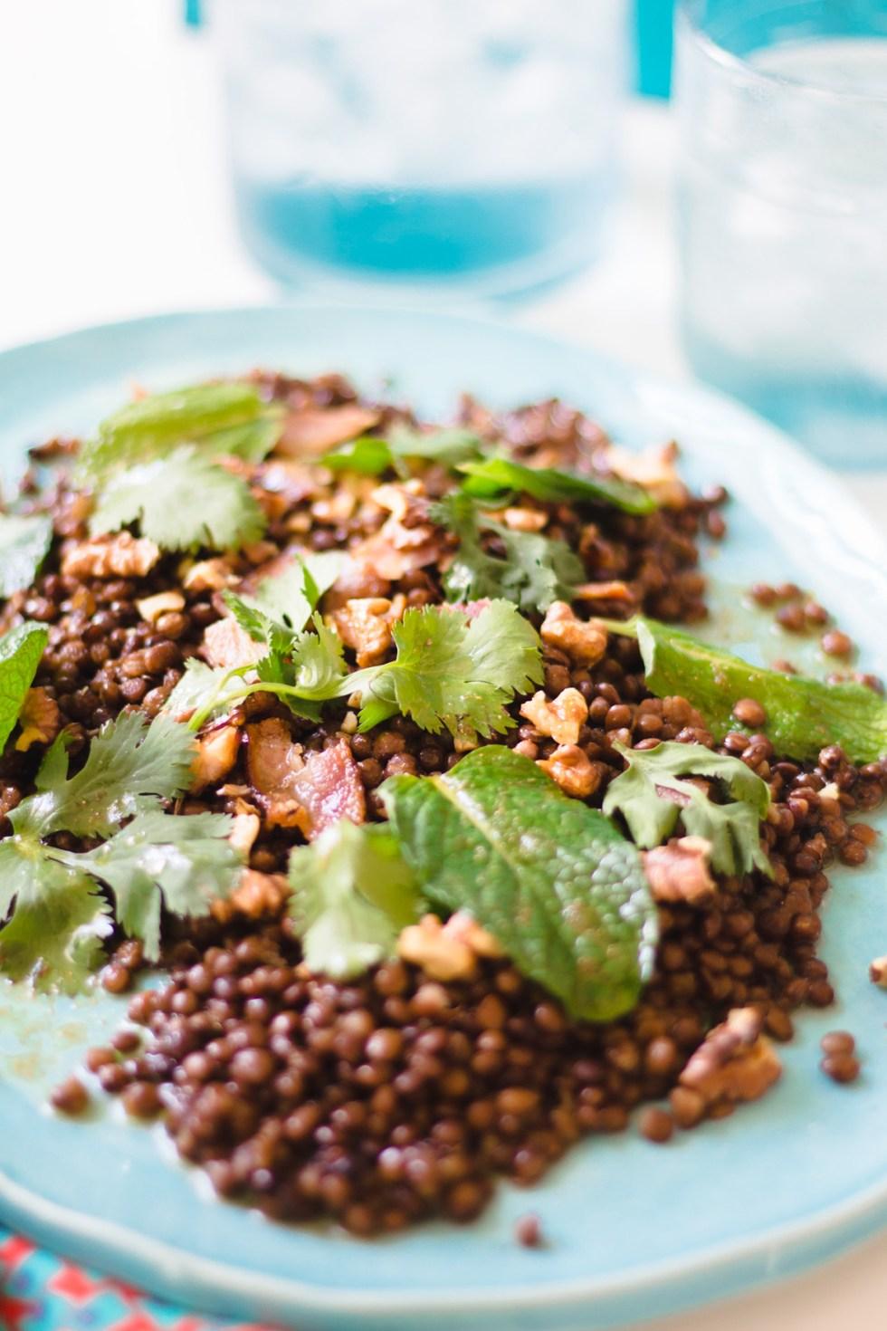 Salada de Lentilhas com Nozes e Bacon 5
