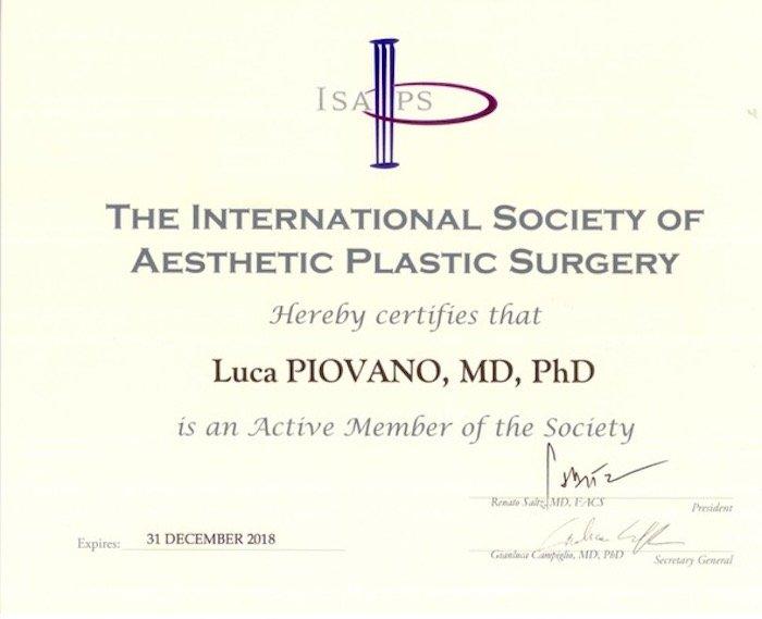 International Society Of Aesthetic Plastic Surgery