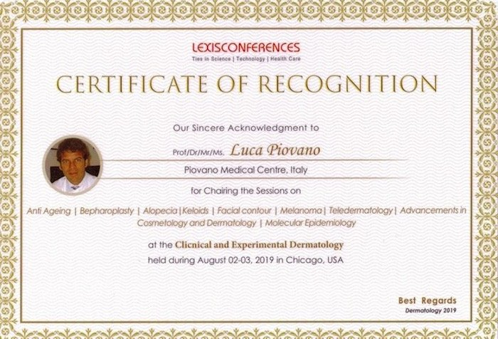 international conference on clinical and experimental dermatology certificate of recognition
