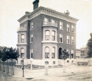 Wayman Crow Residence. 603 Garrison Avenue. Photograph by unknown, late 19th century Missouri History Museum Photograph and Print Collection. Residences n33696