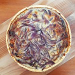 Calabrian red onion tart