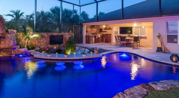 Lucas Lagoons Custom pool on Pine Island