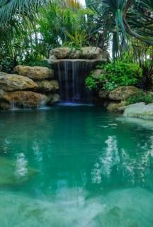 Natural lagoon grotto