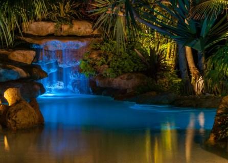 Tropical island lagoon grotto