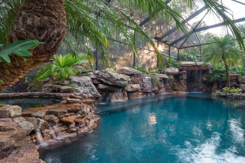 Spa, Water Wall and Large Grotto