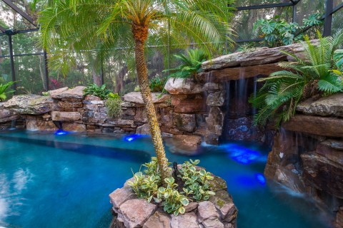 Island Planter, Grotto and Waterwall