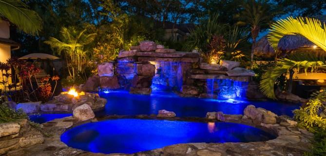 natural-rock-waterfall-pool-siesta-key-spa-night