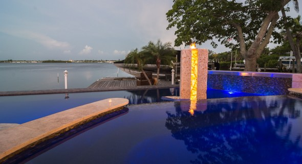 View from the Modern Zen Spa with Infinity edge