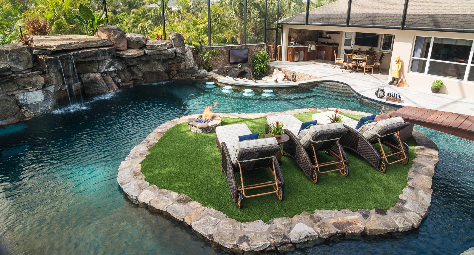 A Lazy River Runs Through It Custom Pool On Pine Island