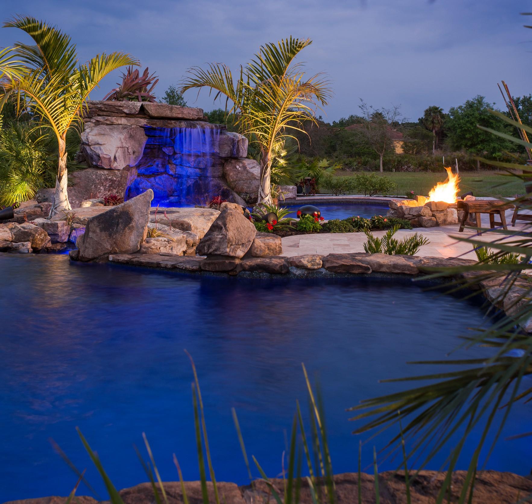 Lucas lagoons insane pools taylor bradenton florida luxury for Florida pool show 2015