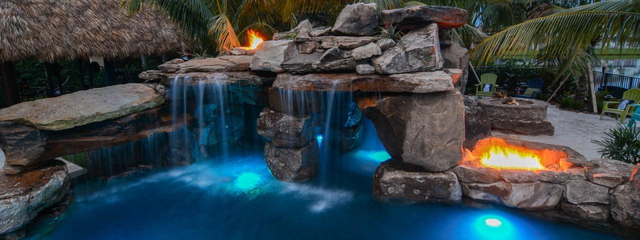 Custom pool resort style wellington florida