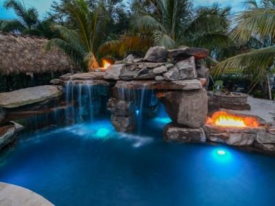 Rocks of Love – Backyard Custom Pool Resort in Wellington, Florida
