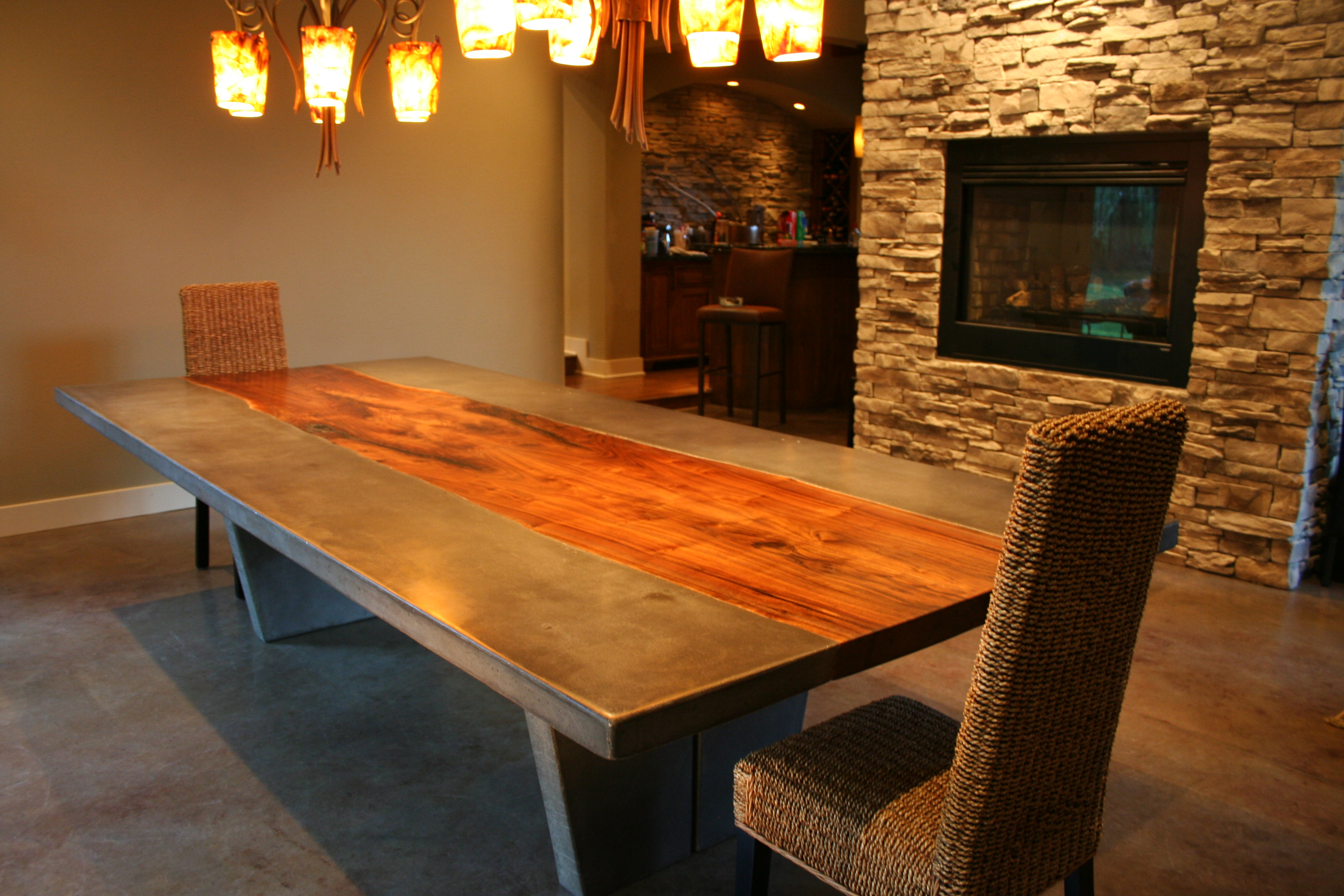 Walnut & Concrete Dining Table