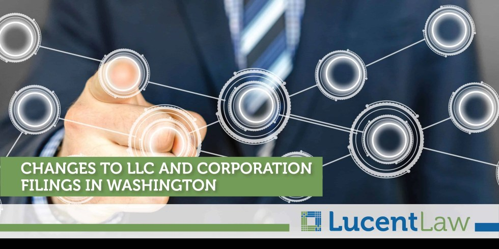 Changes To LLC And Corporation Filings In Washington
