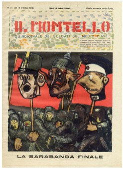 """Mario-Sironi-La-sarabanda-finale-copertina-de-""""Il-Montello""""-n.-3-15-ottobre-1918"""