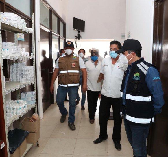 Da gobierno prioridad a los cercos sanitarios y ayuda alimentaria medicamento
