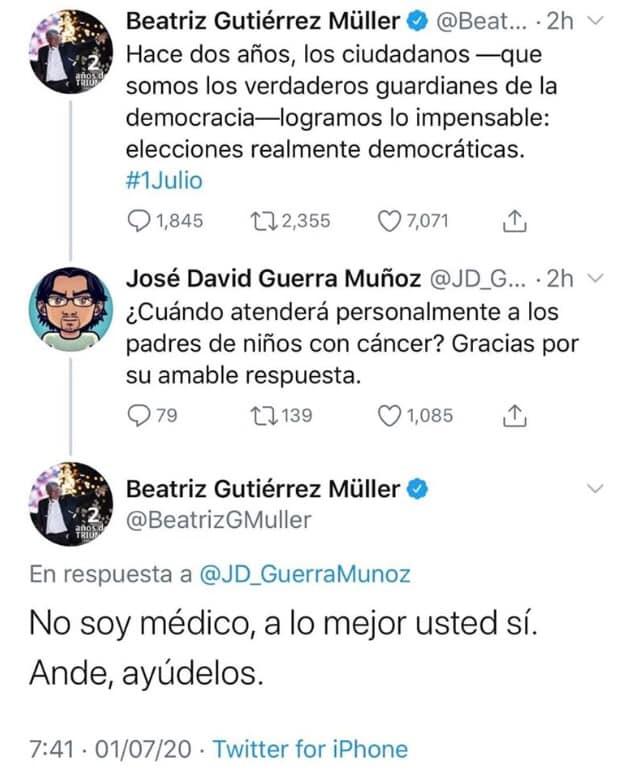 Genera polémica tuit de Gutiérrez Müller
