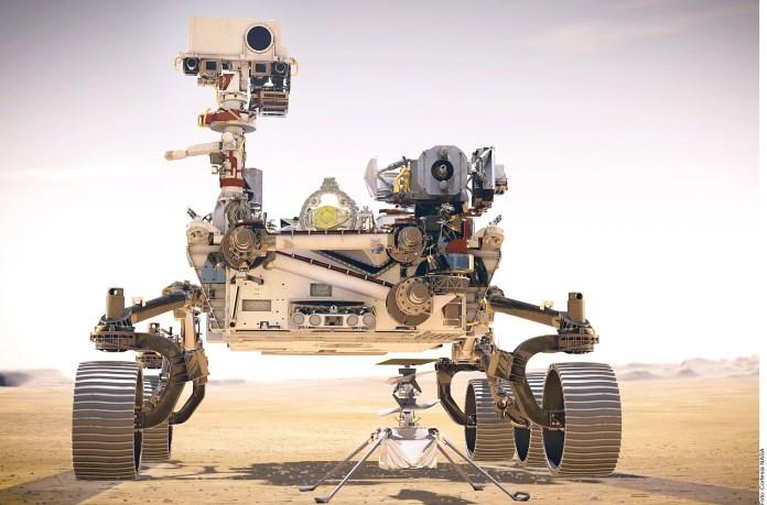 Va robot a Marte...y con su dron