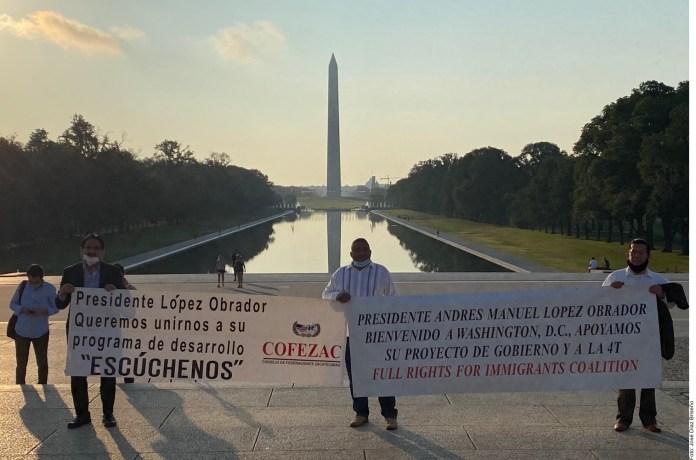 Piden paisanos apoyo a López Obrador y que los escuche