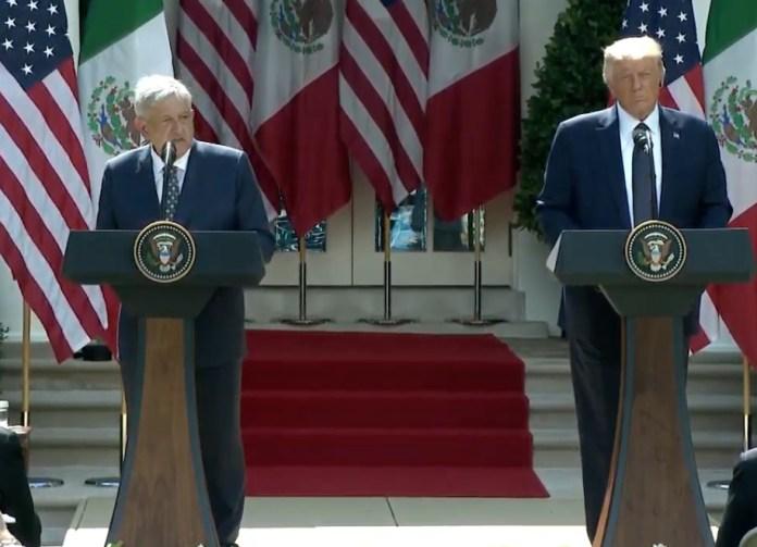 Ofrecen Trump y AMLO mensaje en la Casa Blanca