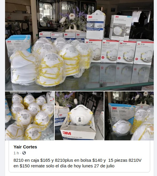 Se dispara compra de cubrebocas en Quintana Roo