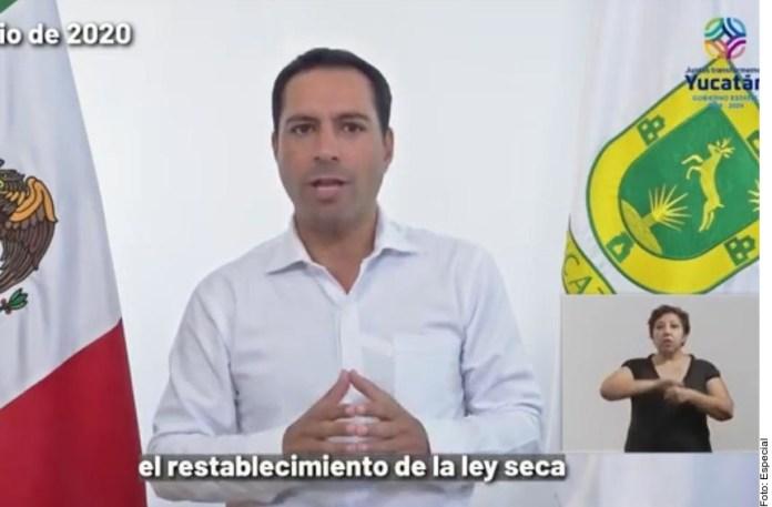 Ordena Yucatán ley seca y toque de queda por Covid