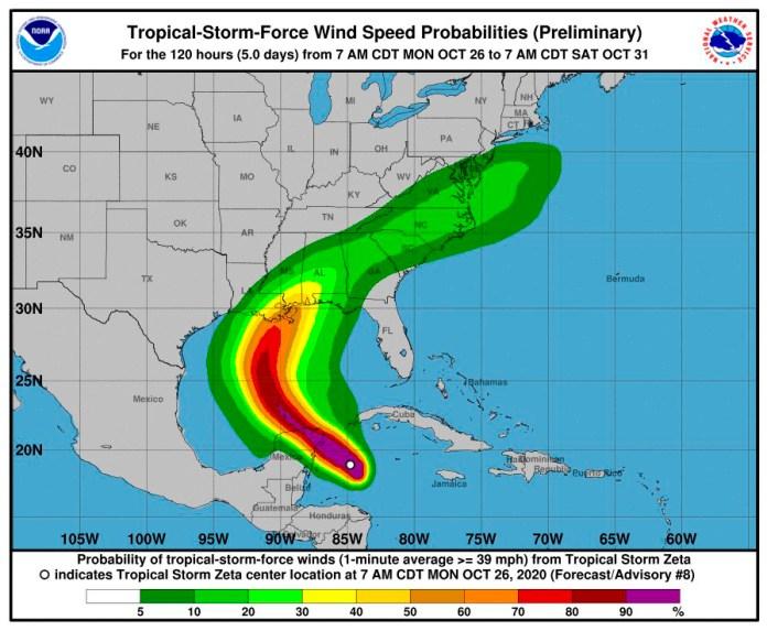 Llegará 'Zeta' a Quintana Roo a las 18:00 horas como huracán categoría 1