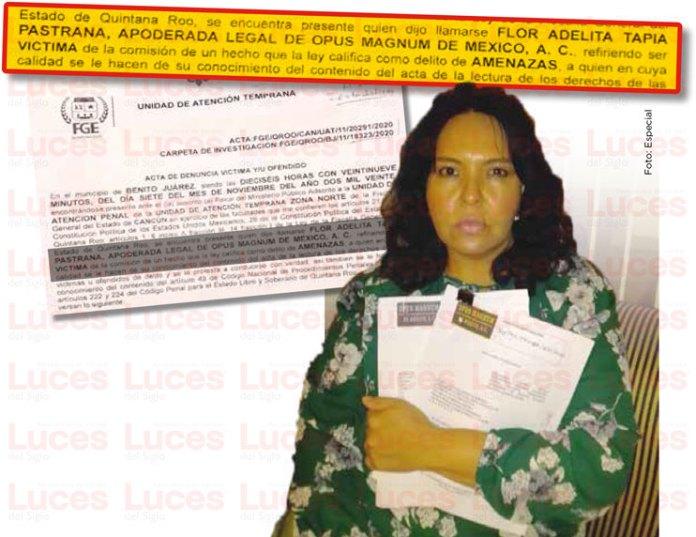 'No vamos a parar ante amenazas': Flor Tapia