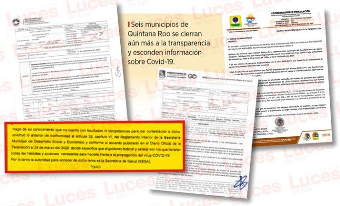Esconden 6 municipios información sobre Covid