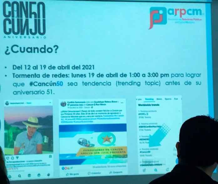 Difundirán en redes sociales el Cancún positivo