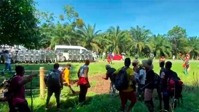 Frena GN caravana migrante en Chiapas