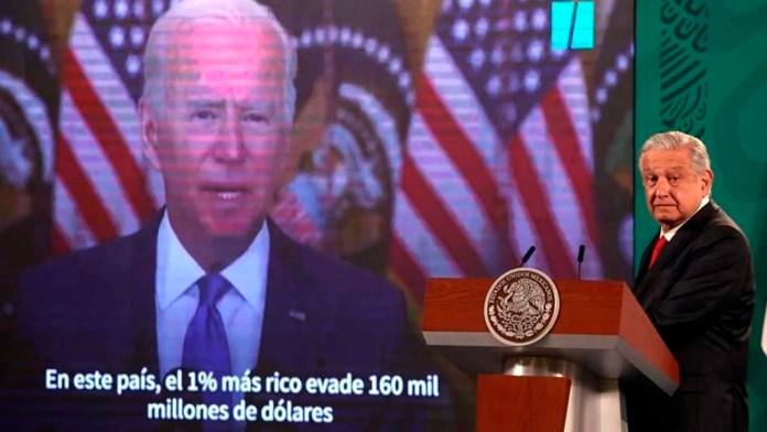 Dice AMLO que coincide con Biden en impuestos a ricos