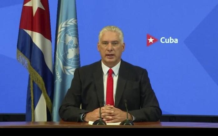 Carga Díaz-Canel contra Estados Unidos en la ONU