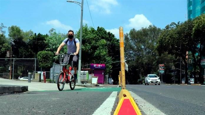 Adelgazan confinadores en ciclovía