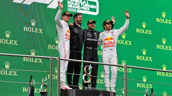Regresa Checo Pérez al podio en GP de Turquía